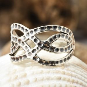 Jewelry - Artisan Crafted Sterling Silver  Hammered Ring